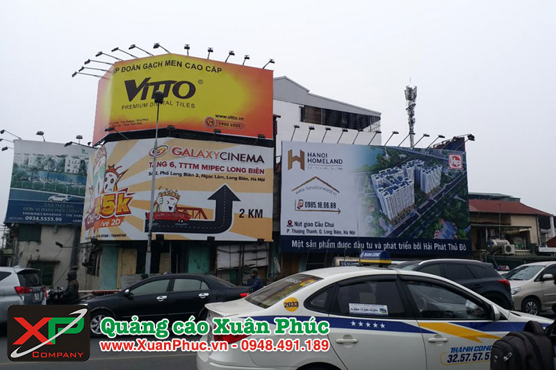 Bảng giá làm biển quảng cáo ở quận Long Biên