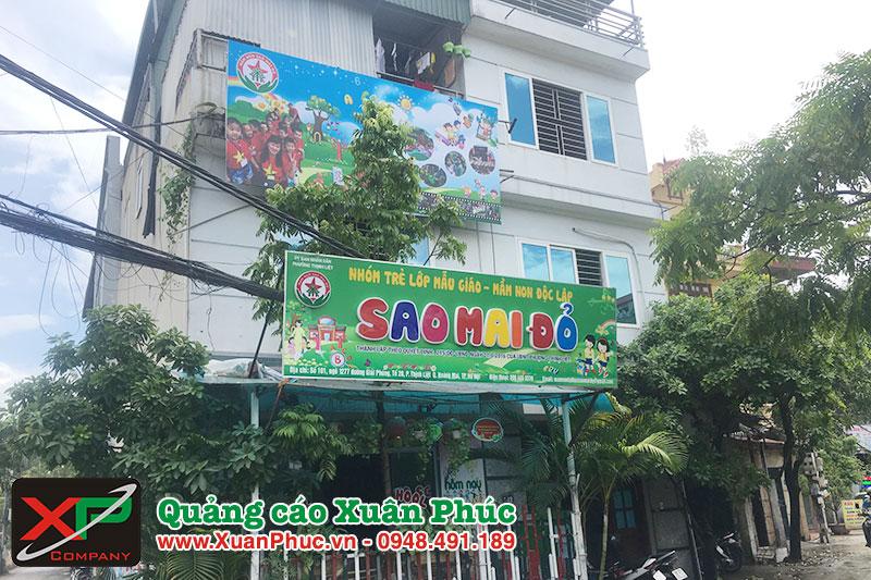 Làm biển quảng cáo trường mầm non giá rẻ tại Hà Nội