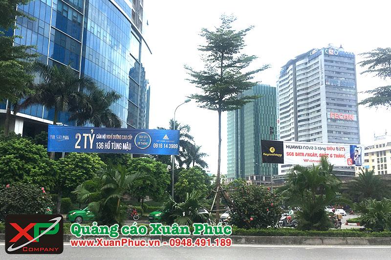 Treo băng rôn trọn gói giá rẻ ở quận Ba Đình