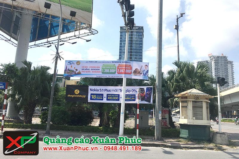 Dự án treo băng rôn tại đường Láng, Hà Nội